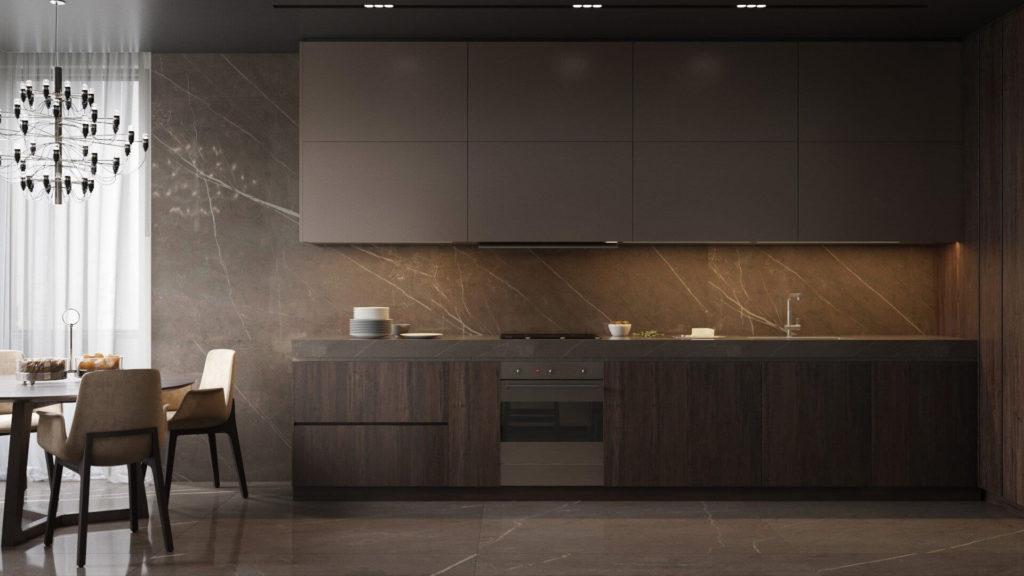 кухня в стиле хай тек фото