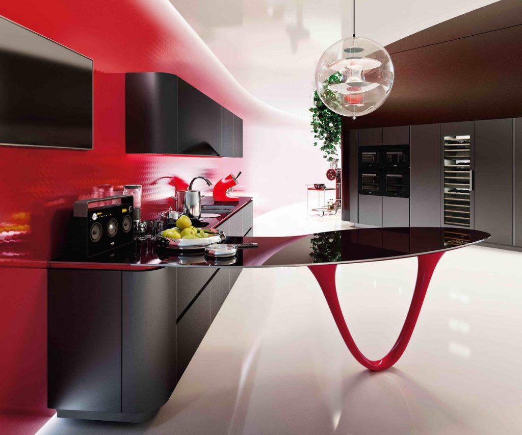 кухни хайтек фото