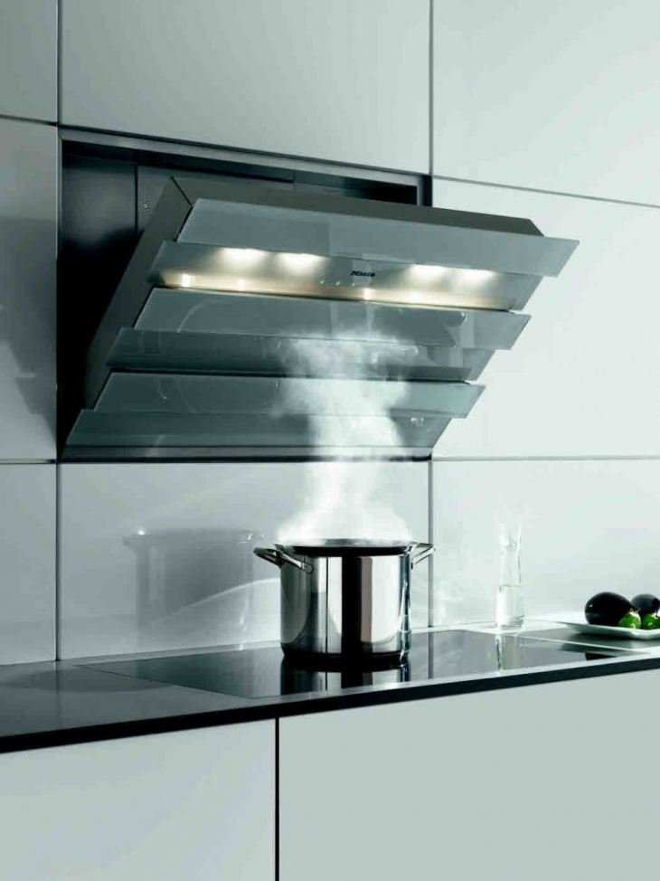 Как скрыть вытяжку на кухне фото