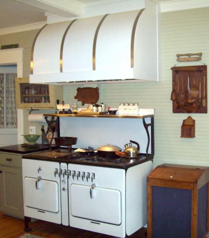 Оформление вытяжки на кухне