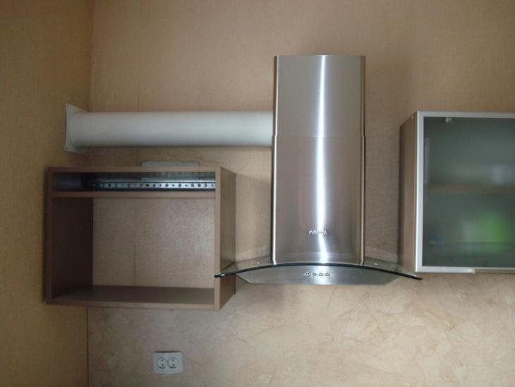 Трубопровод для вытяжки на кухне