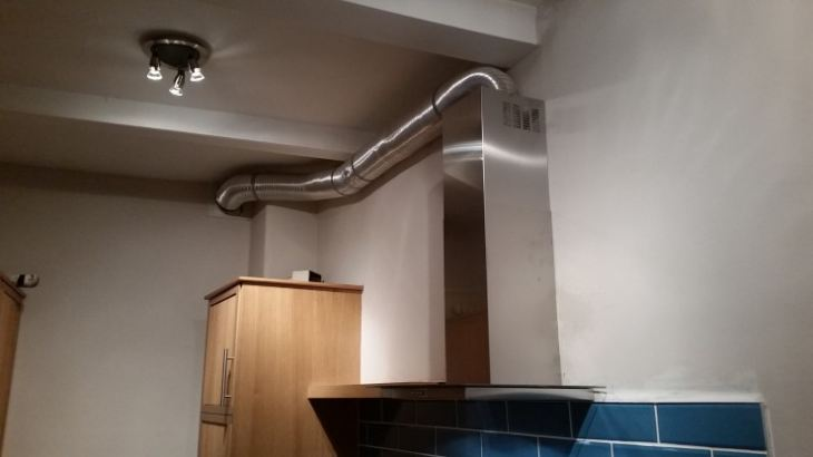 Труба к вытяжке на кухню