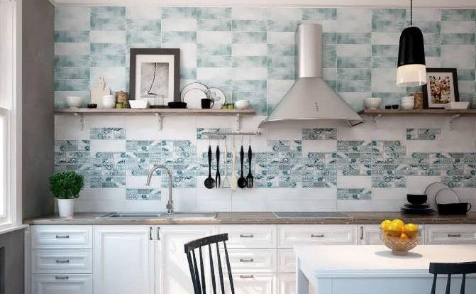 керамическая плитка на фартук на кухню