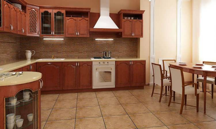 керамогранит на стену на кухне