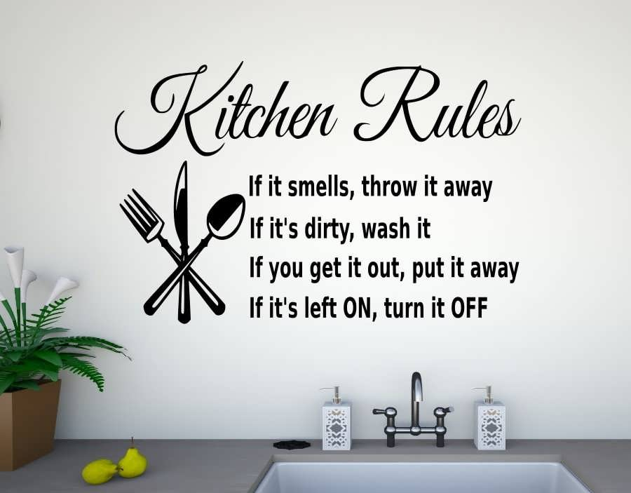 наклейки на кухню на стены