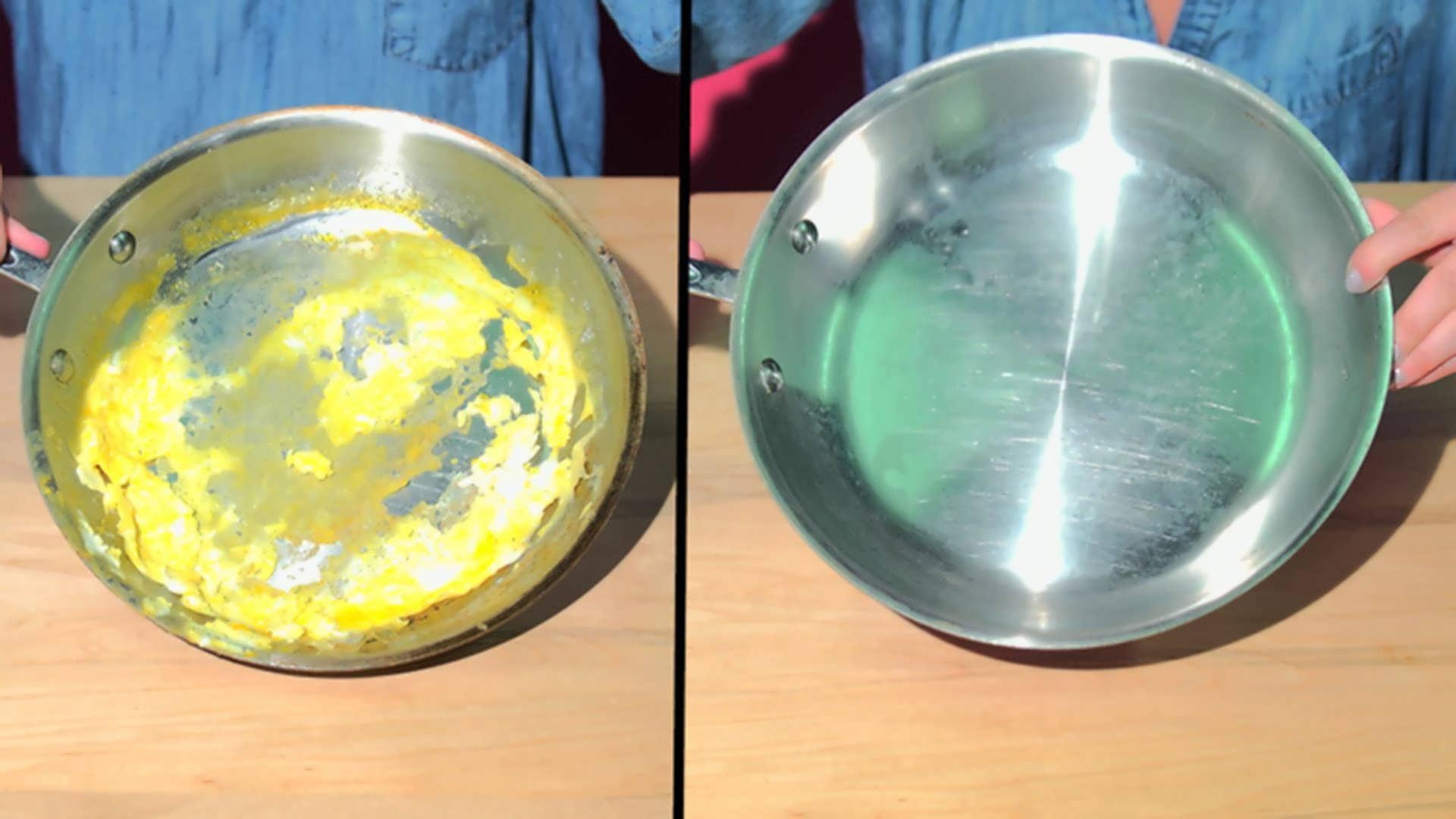Как очистить сковородку от жира и нагара