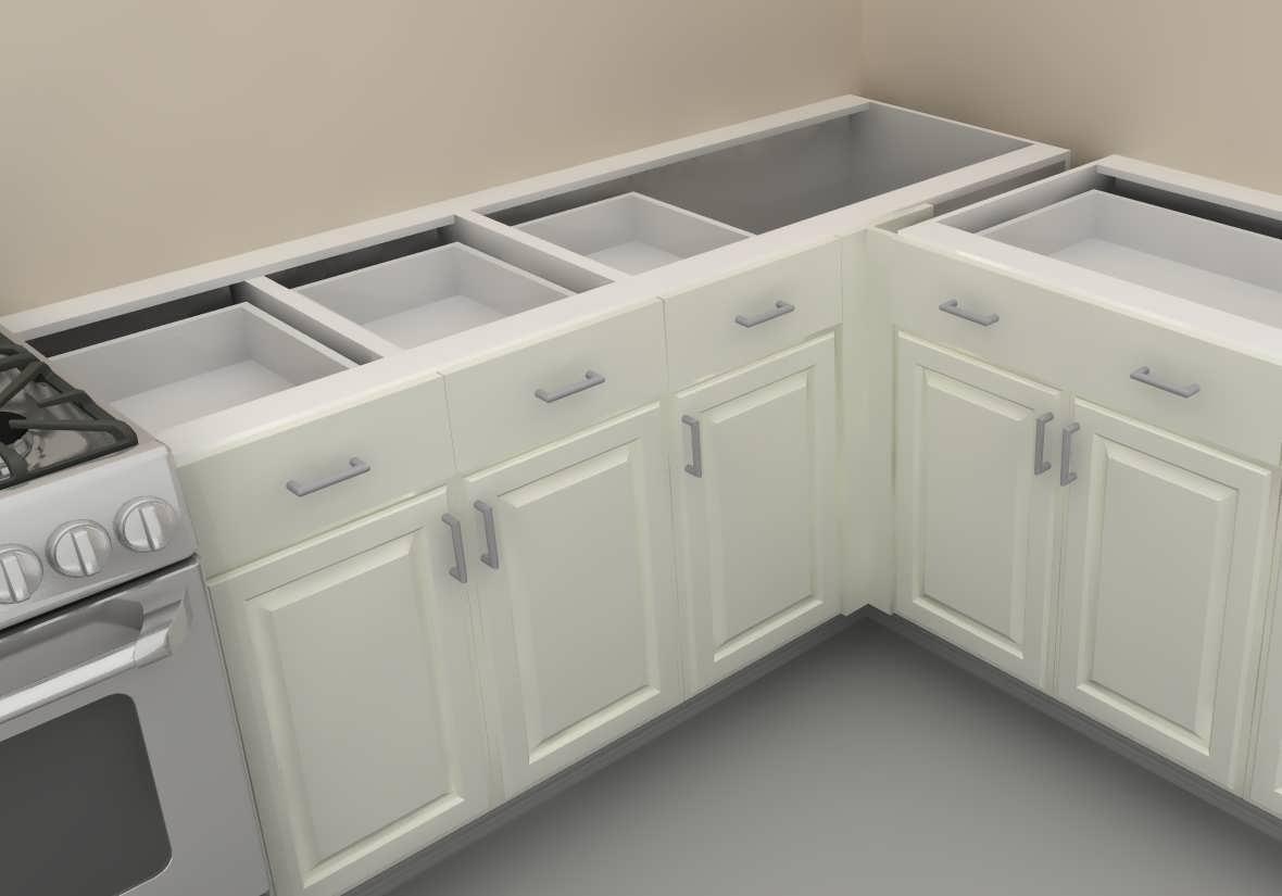 Глубина кухонных шкафов нижних