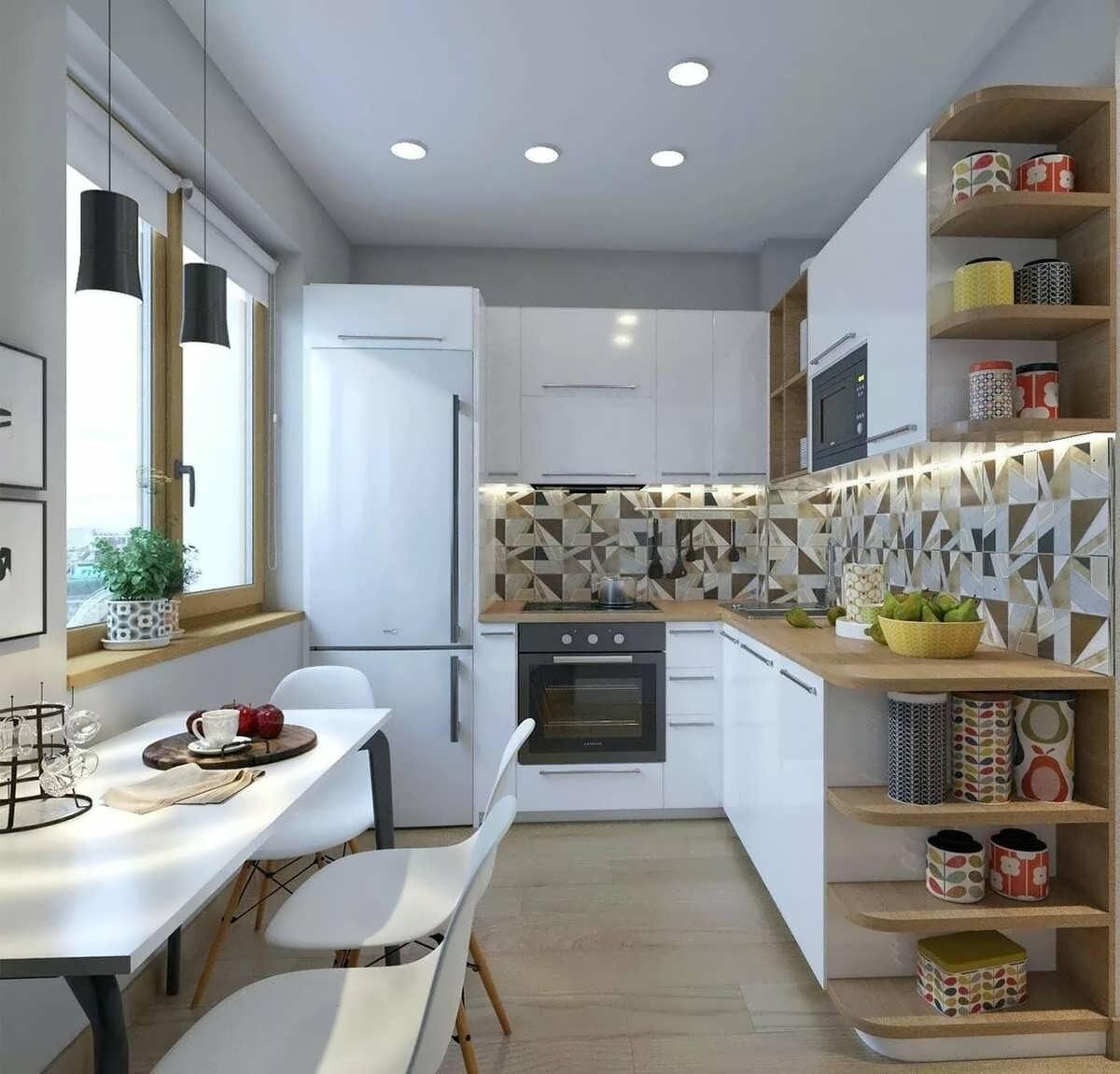 Кухня 5 метров дизайн