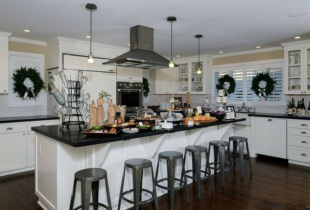 новогоднее украшение кухни