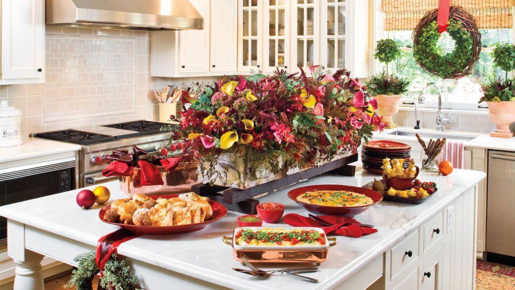 как украсить кухню на новый год