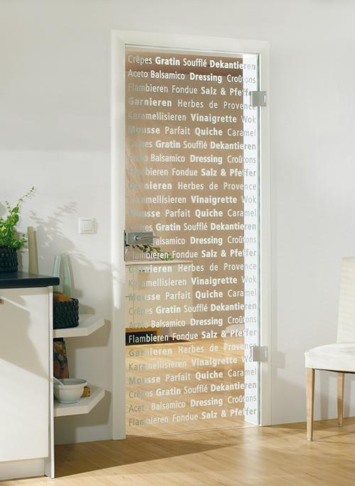 кухонная дверь со стеклом