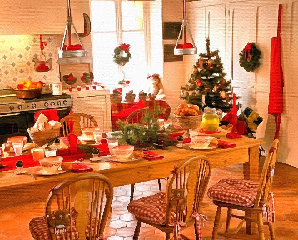 новогоднее оформление кухни