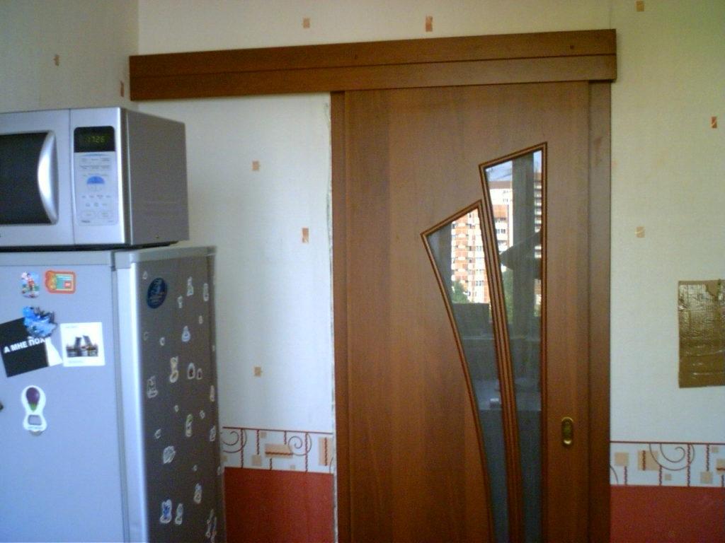 раздвижные двери на кухню фото