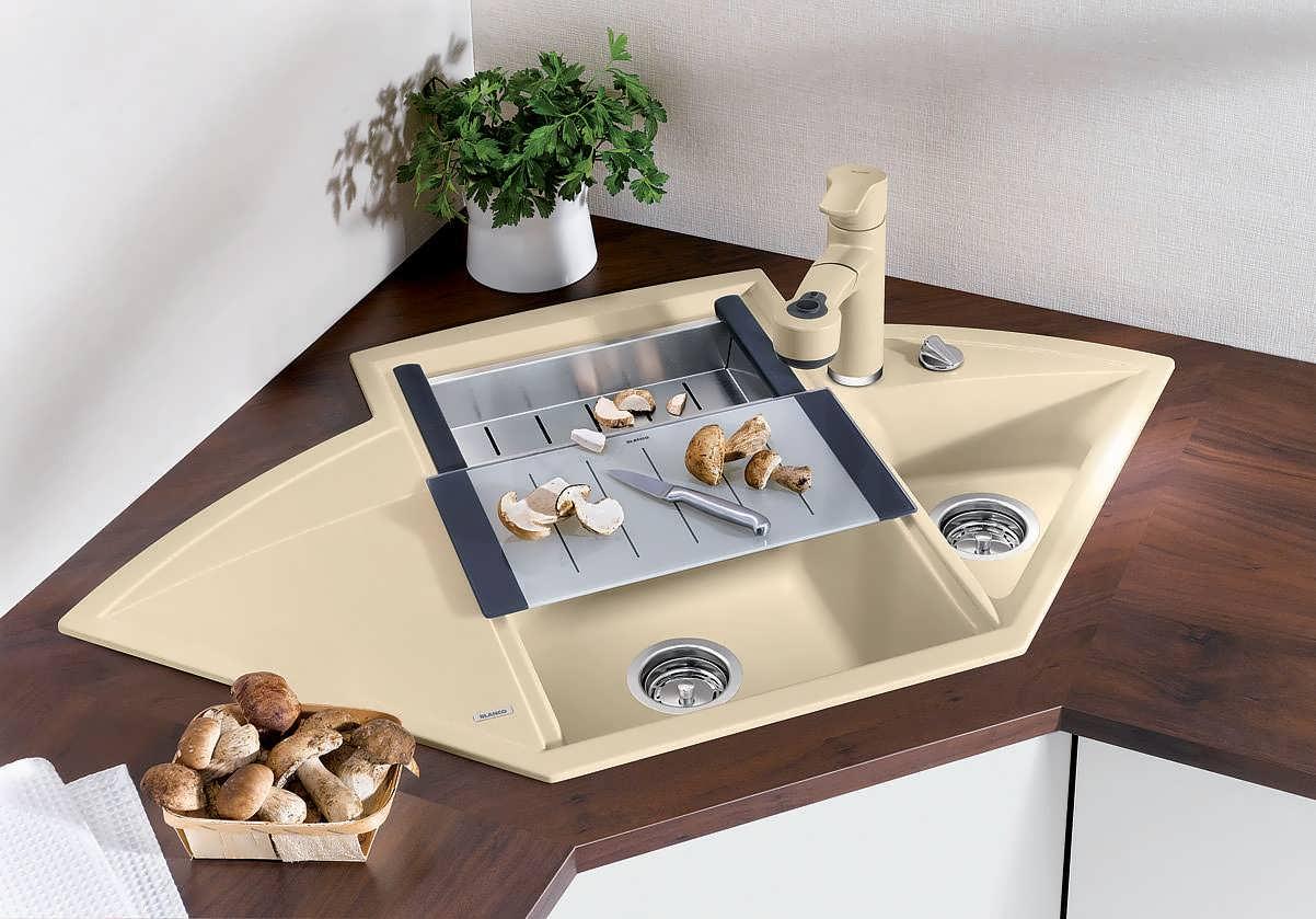 Угловые раковины для кухни