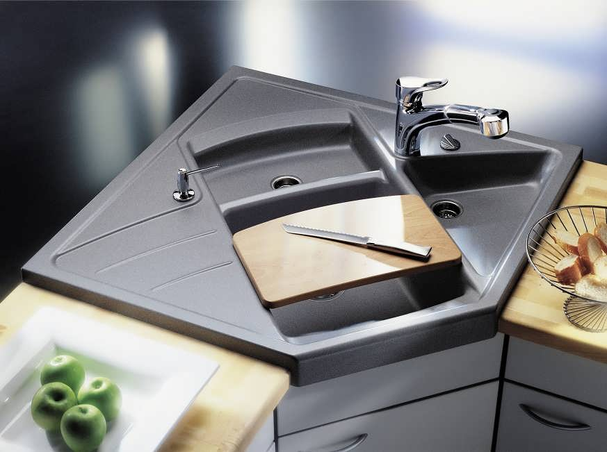 Мойка угловая для кухни