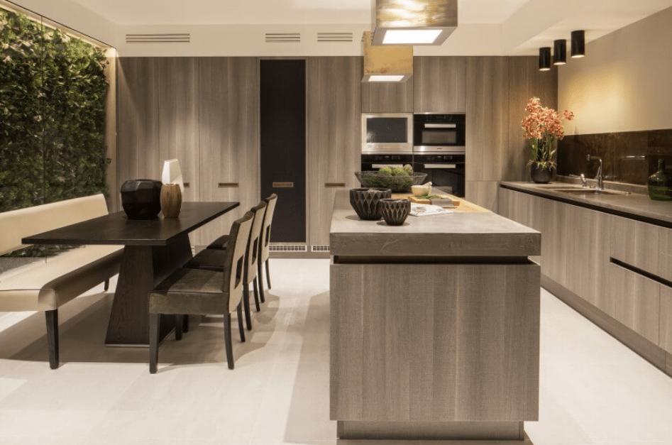 как обустроить прямоугольную кухню