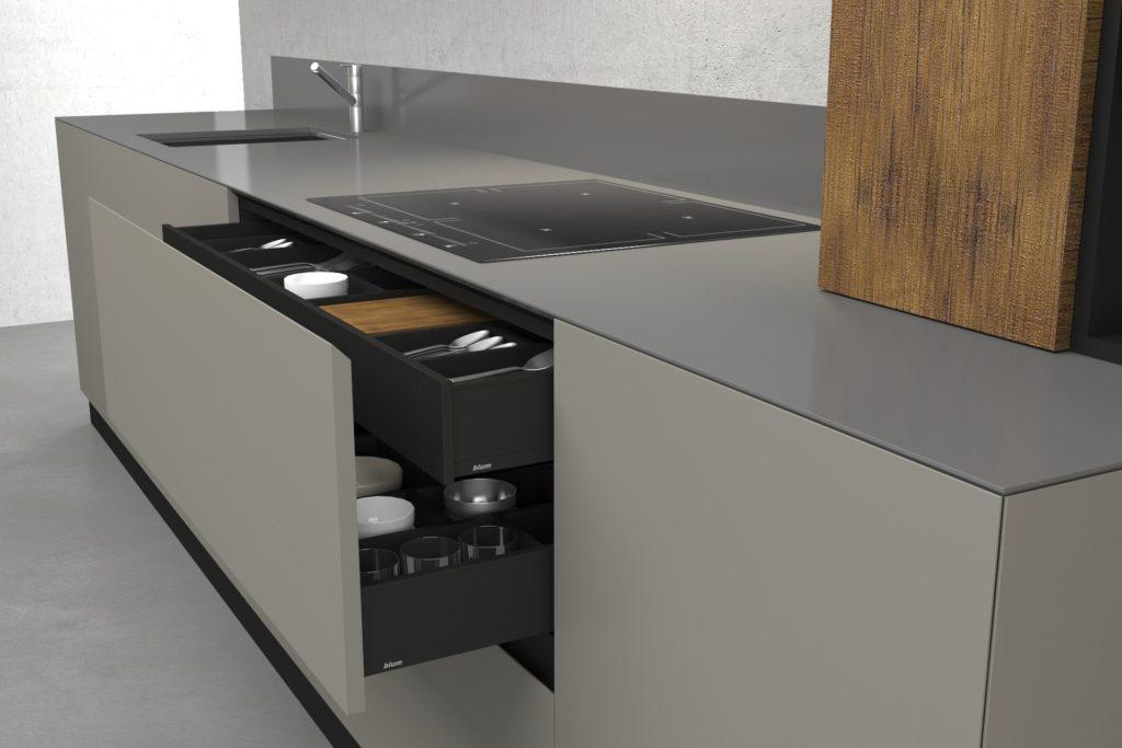 дизайн кухни прямоугольной формы