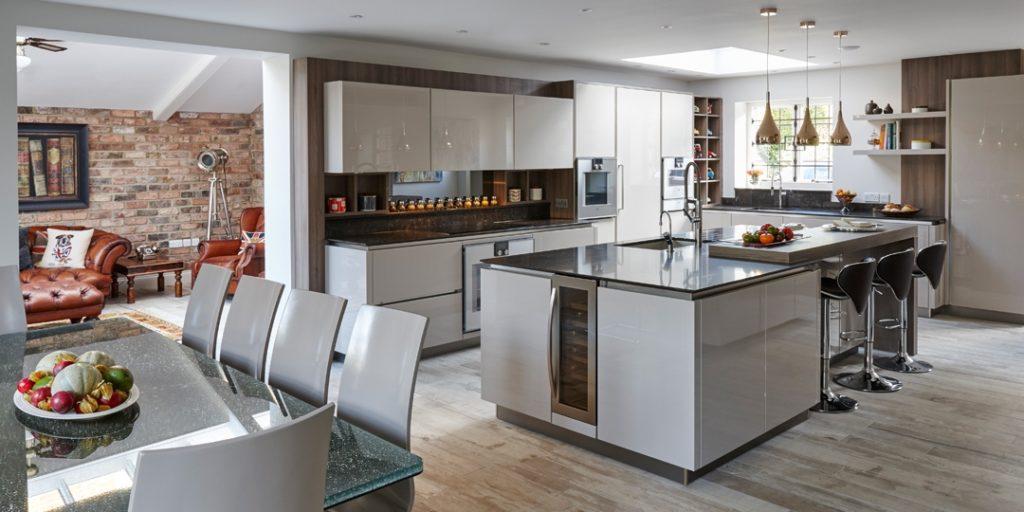 прямоугольная кухня дизайн
