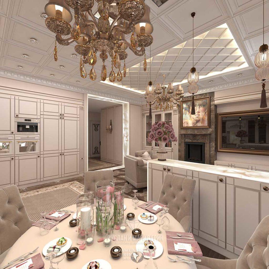 кухня прямоугольная дизайн