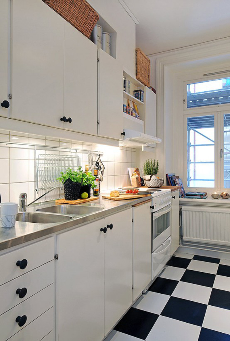 кухня гостиная квадратная