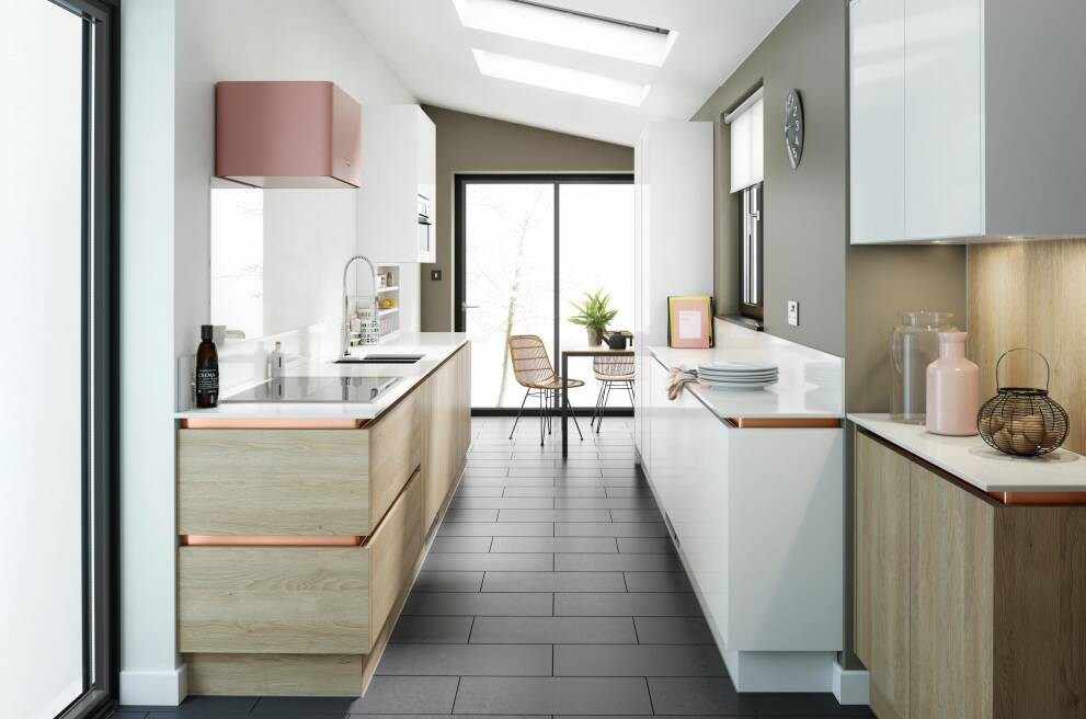 планировка прямоугольной кухни
