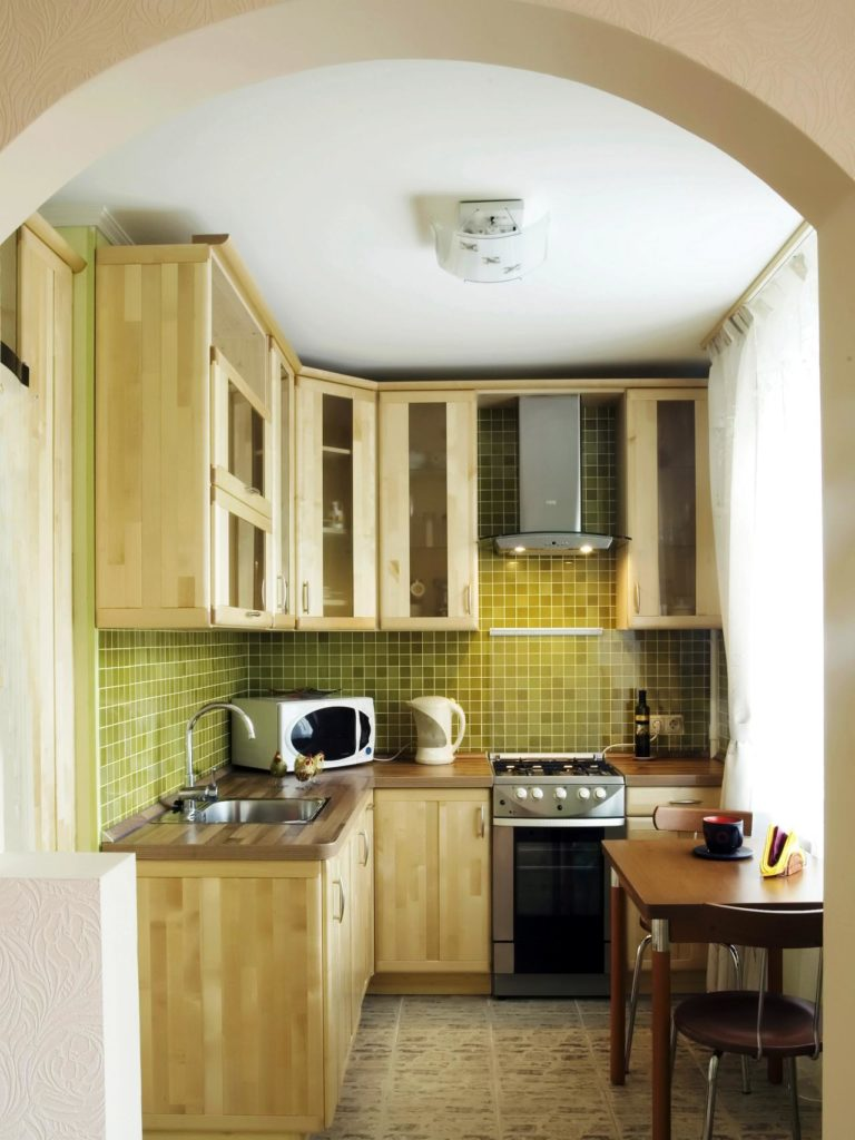 дизайн кухни 4 квадратных метра