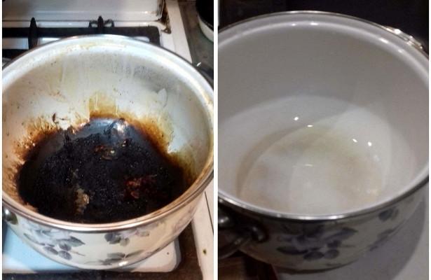 пригорела кастрюля из нержавейки как очистить