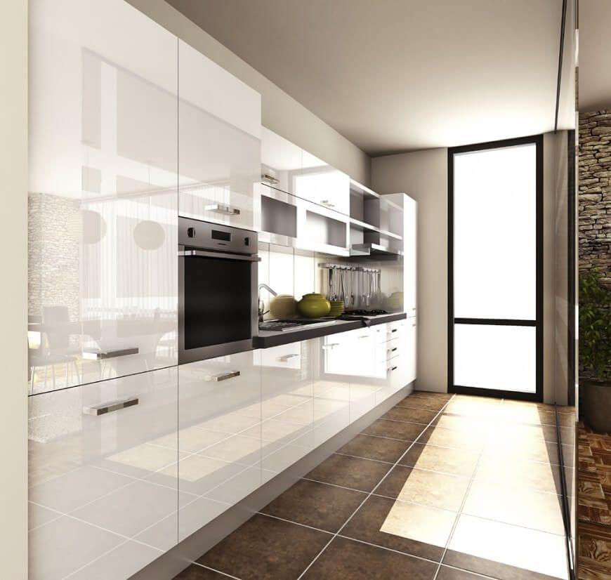 кухни цвета кофе с молоком глянец фото