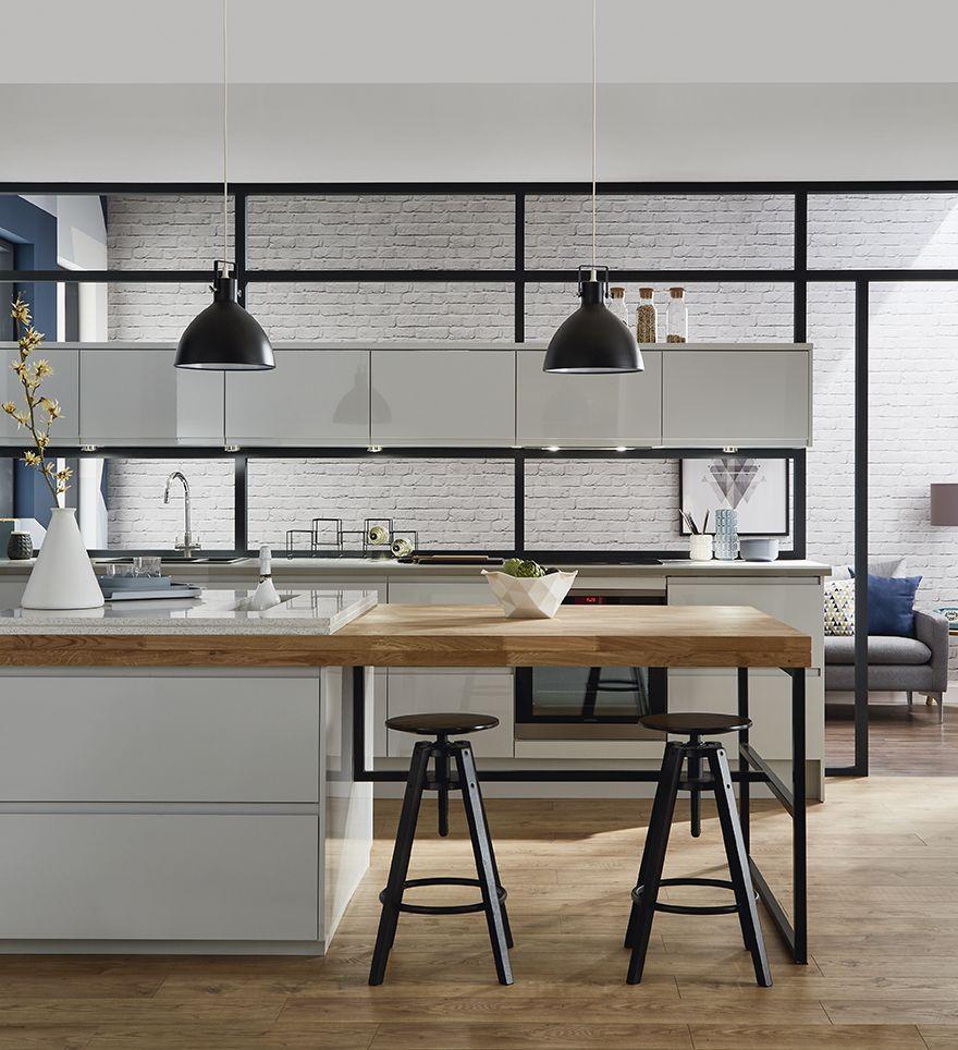 глянцевые кухни фото