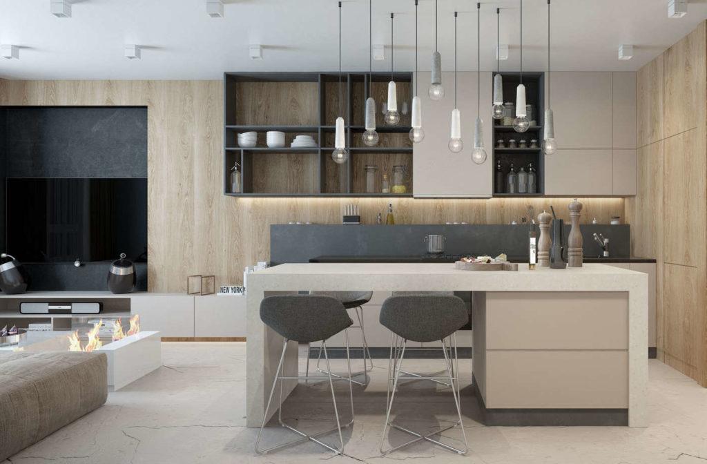 кухня модерн угловая