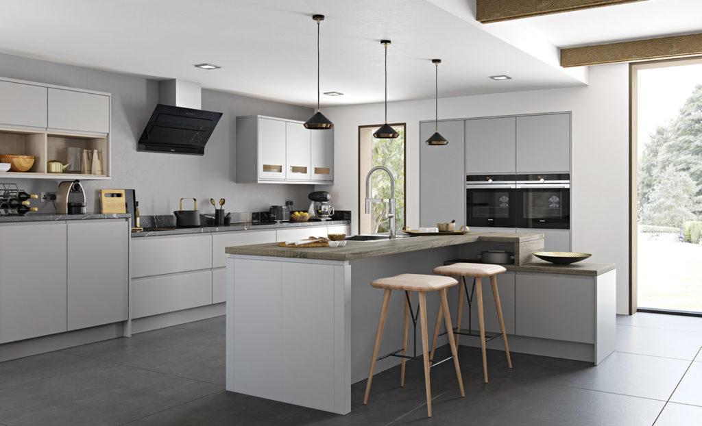 белая кухня глянец или матовая