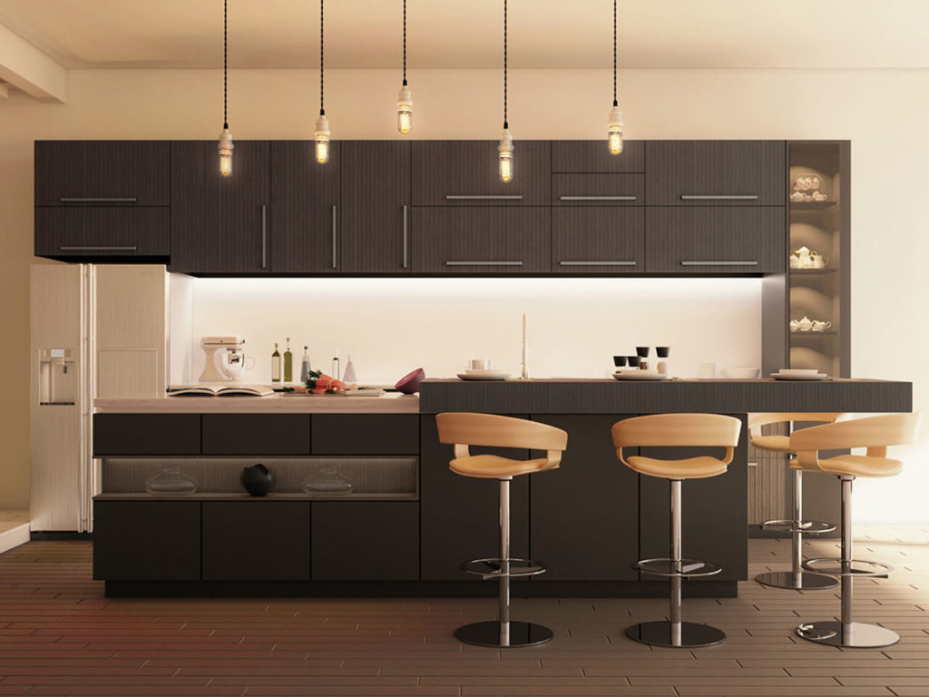 кухня с матовыми фасадами