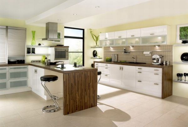 кухни под дерево в стиле модерн