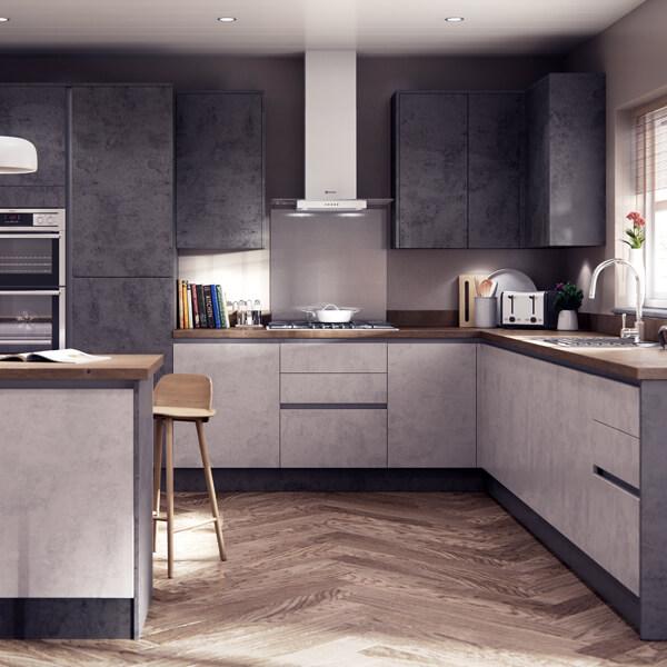матовая кухня фото