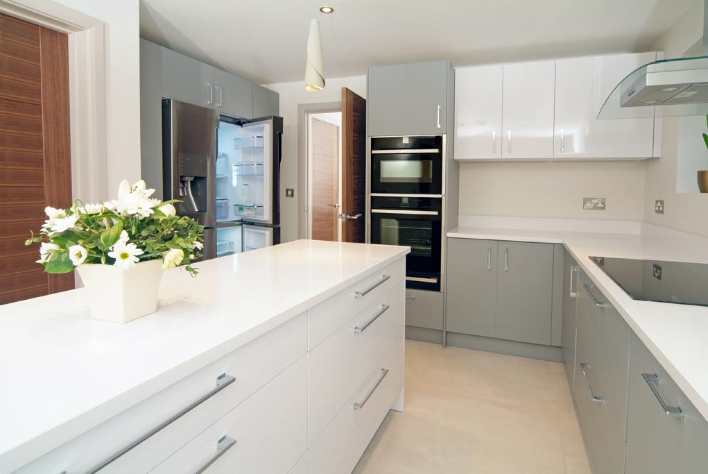 матовая белая кухня