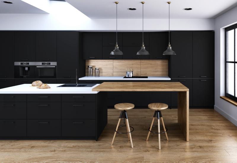 матовые фасады для кухни