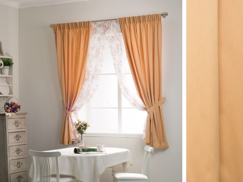 кухня в персиковом цвете дизайн фото