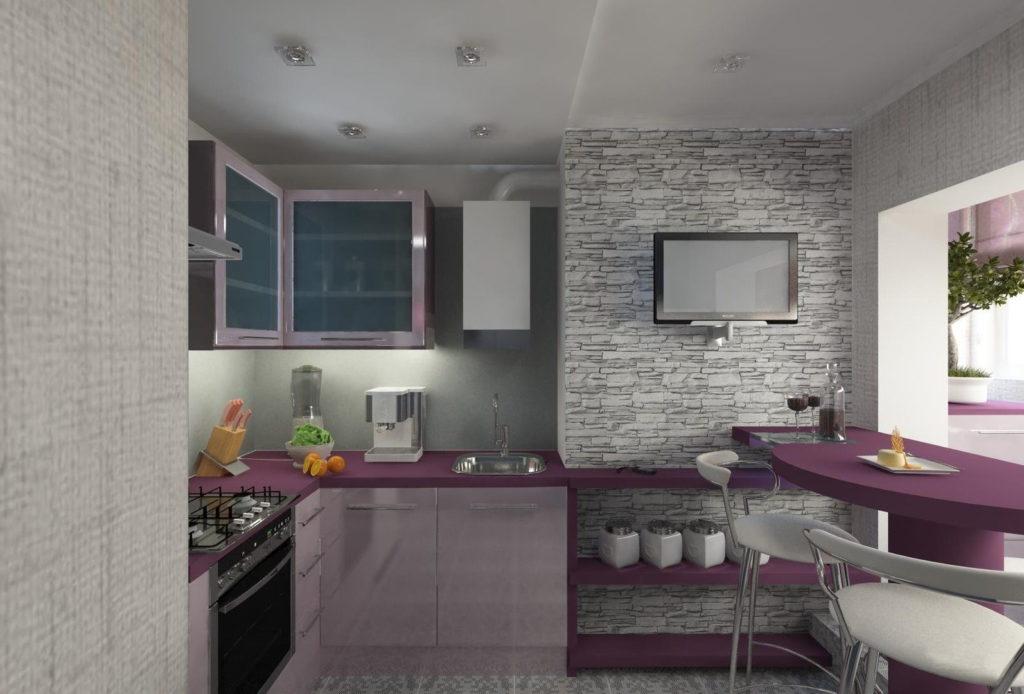 кухня в панельной девятиэтажке