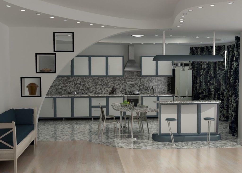маленькая кухня без окна дизайн фото
