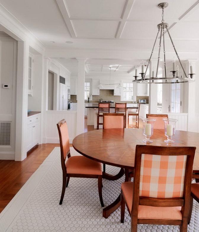 персиковая кухня в интерьере