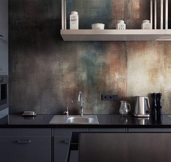 декоративная штукатурка фото в интерьере кухни