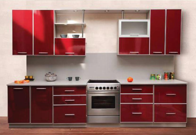 кухни с алюминиевым профилем