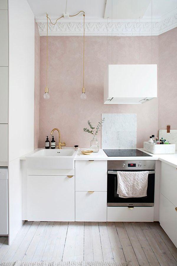 кухня в персиковых тонах