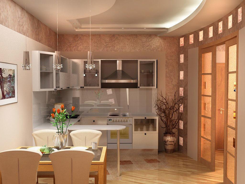 кухни без окон фото