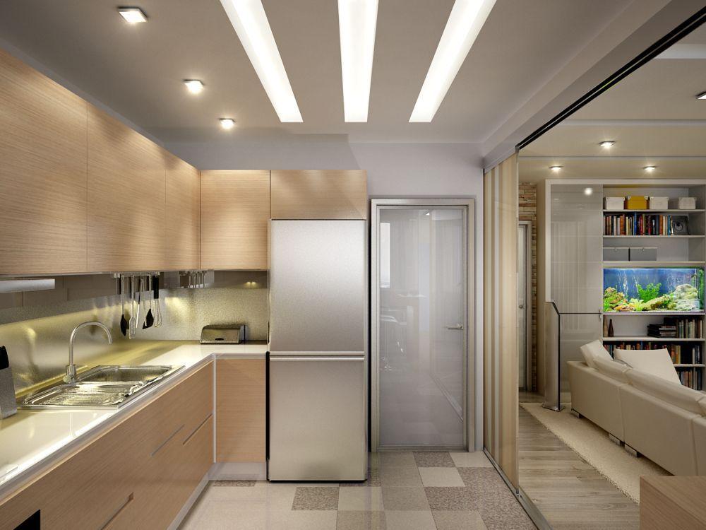 проходная кухня дизайн