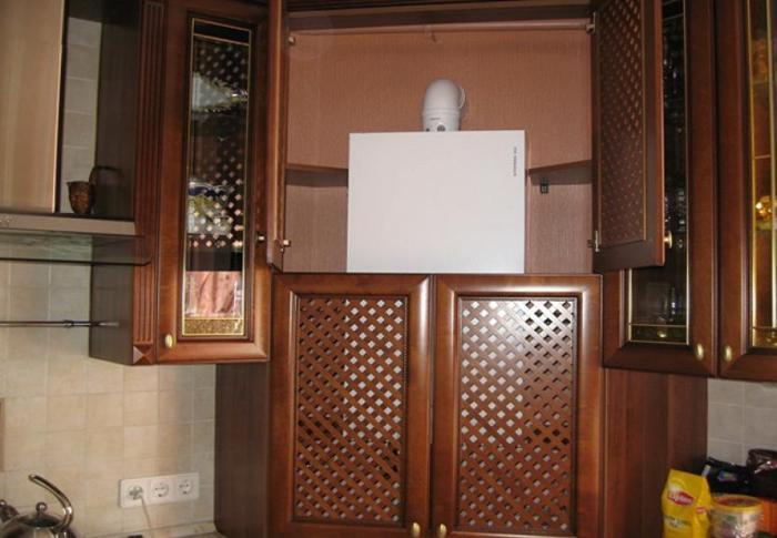 кухня с газовым котлом дизайн фото