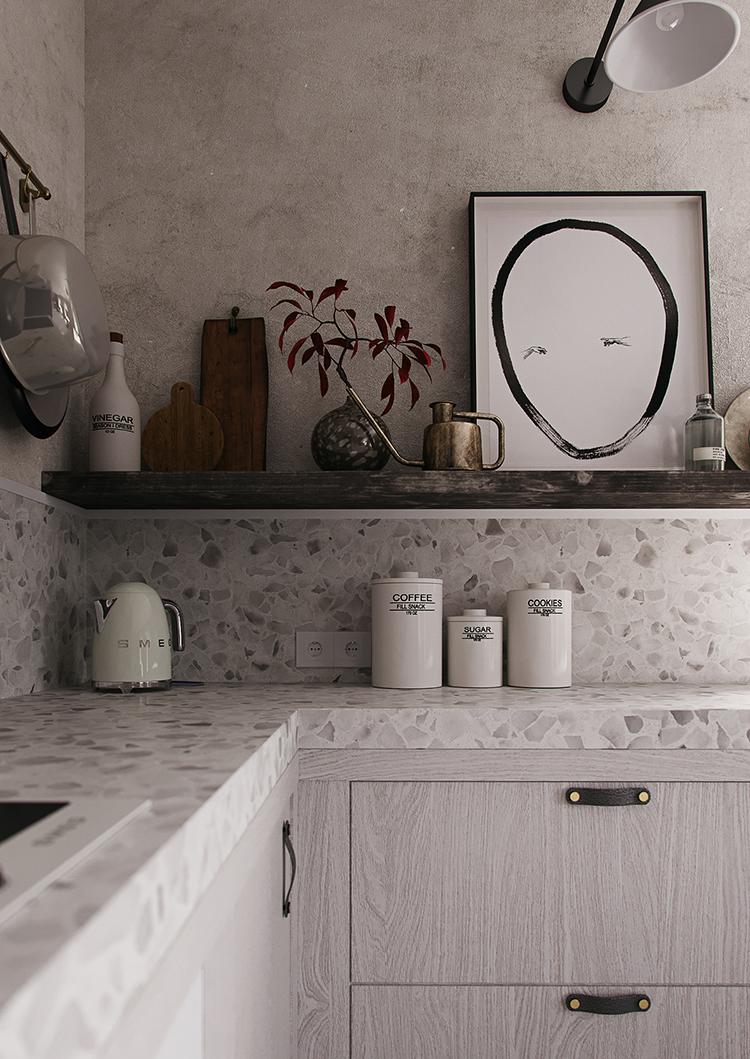 декоративная штукатурка на кухне своими руками