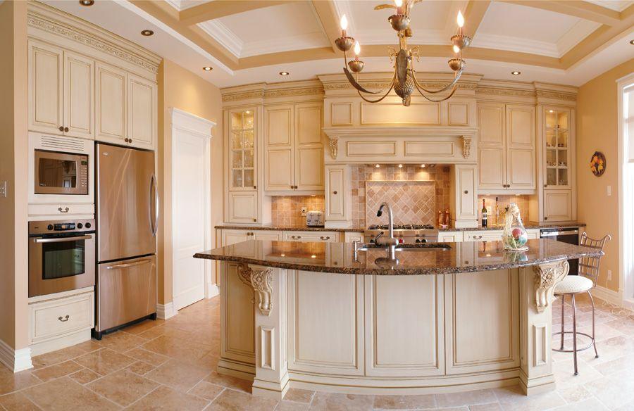 персиковая кухня в интерьере фото
