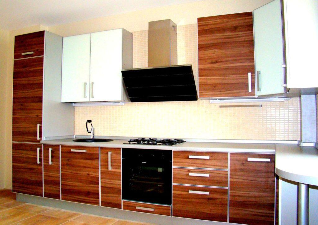 фасады в алюминиевой рамке для кухни
