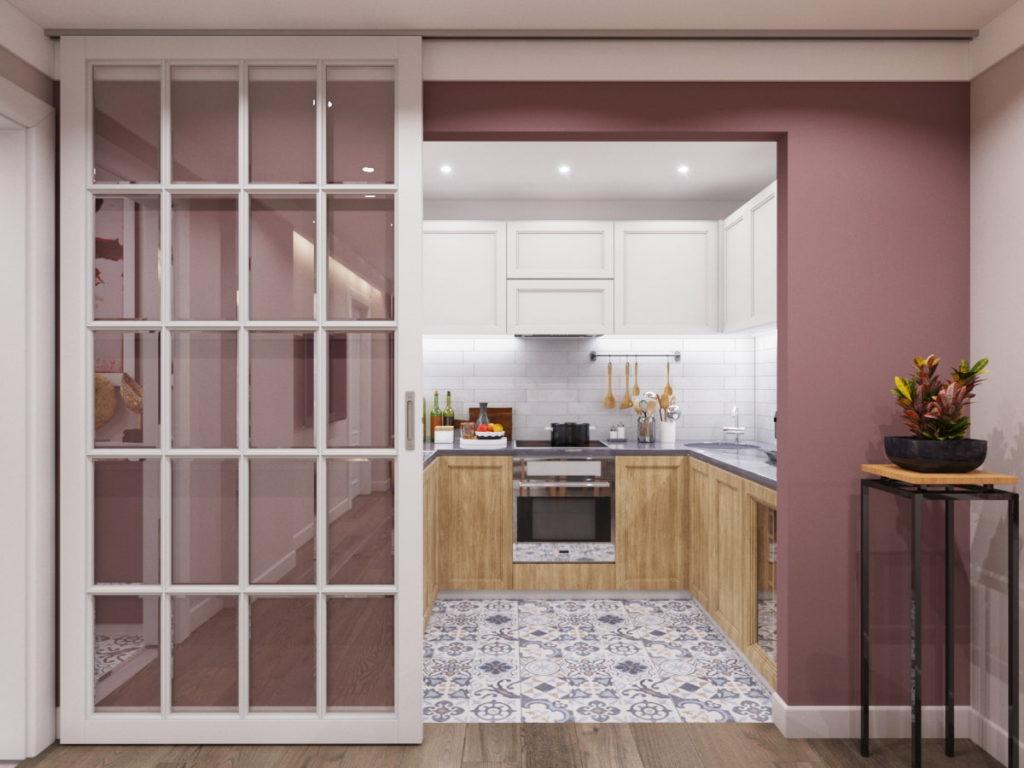 дизайн кухни без окон